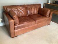Large 2 seater leather sofa