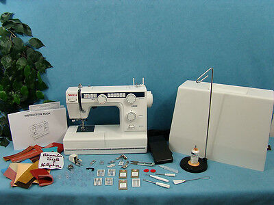 Heavy Duty Industrial Strength Sewing Machine Sews 14 In Leather Upholstry