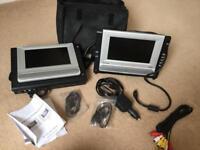Dual screen portable DVD player