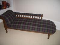 Restored Antique Chaise Longue