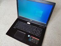17.3in MSI Gaming Laptop i7-7700, 16GB RAM, 256GB SSD, 1TB HDD