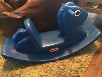 Little Tikes Blue Rocker