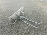 Quad atv snow plough with brackets in very good condition tractor