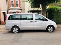 Mercedes Vito CDi long automatic 7 seater no plate Taxi 127,000 miles with wheelchair access