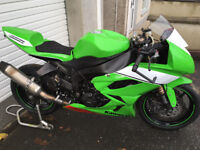 2013 Kawasaki ZX6R race/track bike , top spec