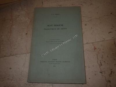 1931.Scot Erigene traducteur de Denys.Thery
