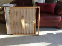 Unused and boxed , BabyDan ,No Trip wooden safety gate .71.5 to 78.5 cms wide.
