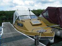 Boat, Shetland 535 cabin cruiser
