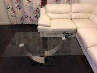 Living Room Glass table