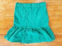 Gently Worn Benetton Courdoy Velvet Skirt