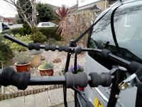 High mount rear Bicycle rack for up to three bicycles