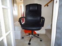 Office chair black, swivel and height adjustable
