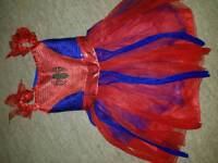 Girls spiderman dress age 3 to 4 sparkly