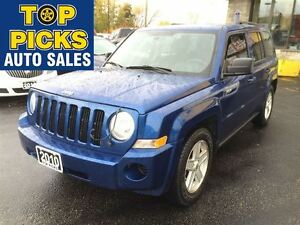 2010 Jeep Patriot NORTH EDITION, 4X4, ALLOY WHEELS, LOW MILEAGE!