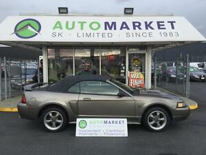 2002 Ford Mustang GT Deluxe Convertible LEATHER, WARRANTY!