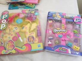 Shopkins and my little pony -unopened