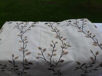 """Lovely pair of LIned Curtains 90"""" x 90"""" (silver rings) only £20"""