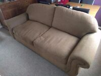 3 Seater Brown Sofa