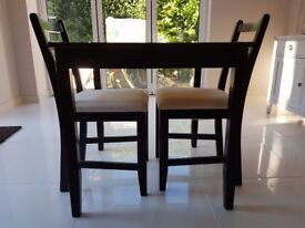 Ikea LERHAMN Table and 2 chairs Black-brown/ramna beige