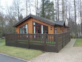 Spectacular 3 bed log cabin for sale at Percy Wood Country Park near Alnwick in Northumberland