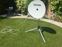 Maxview Satellite Dish with Freesat Goodmans Receiver