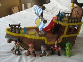 Jake and the Neverland Pirates Bucky Pirate Ship Play Set Disney