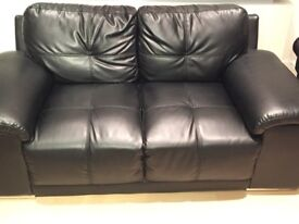 2 & 3 seater black sofa