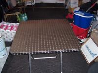 3 Stainless steel tables plus 12 chairs NEW!!