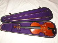 Mature violin and case