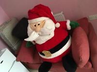 Santa teddy. 4 ft.