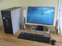 """HP Tower PC, Windows 10, 20"""" Monitor Keyboard, Mouse and Wi-Fi. Excellent Condition."""