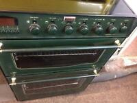 Green stoves 60cm ceramic hub electric grill & double oven good condition with guarantee