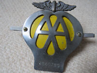 Vintage Metal AA Badge dating to the early 1960's