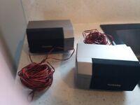 Two technics compact speakers