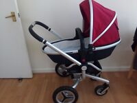 Almost new Silver Cross Pram and pushchair