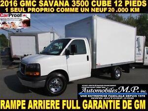 2016 GMC Savana 3500 20.000 KM 1 SEUL PROPRIO COMME UN NEUF