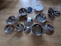 Millerhaus Stainless Steel Cookware Set