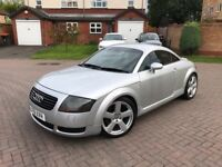 2001 Audi TT 225 bhp Coupe Quattro*Only 85k*SH*Long MOT*BOSE*Lowered*Wheel Spacers*Black leather*VGC