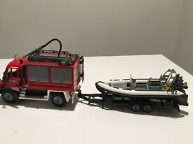 Dickie Toys Fire truck with a boat
