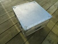 Aluminium Storage Case/ Coffee table on Large Casters