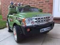 KIDS RANGE ROVER STYLE RIDE ON JEEP ELECTRIC 12V BATTERY REMOTE CONTROL GREEN