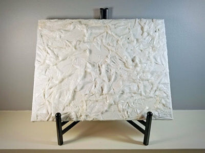White Textured Tissue Paper Mixed Media Art Wall Decor 11x14