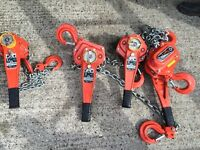 Tiger 3ton Tiger lever hoist/lift/block and tackle £125 each.