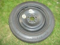 Ford Mondeo MK4 Space Saver Wheel and Tyre, Brand Continental, GOOD CONDITION, £20