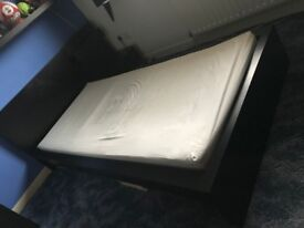 Single Ikea Black Bed and Side Board