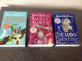 X3 David Walliams books