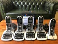 BT 4600 Premium Big Button Telephone / 3 Single Handsets & 1 Twin Set