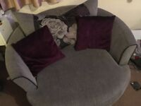SCS SOFA AND CUDDLES CHAIR