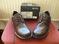 ECCO brown leather lace-up shoes - size 9