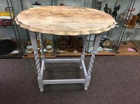 Shabby chic barley twist oak table